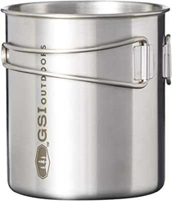 GSI Outdoors Rugged Glacier Stainless Steel Bottle Cup 20 oz for Solo Camping and Backpacking, Small - 20oz (68214)