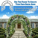 BenefitUSA Multi-use Support Arch Frame for Climbing Plants/Flowers/Vegetables, plant Trellis (10' X 7' X 6')