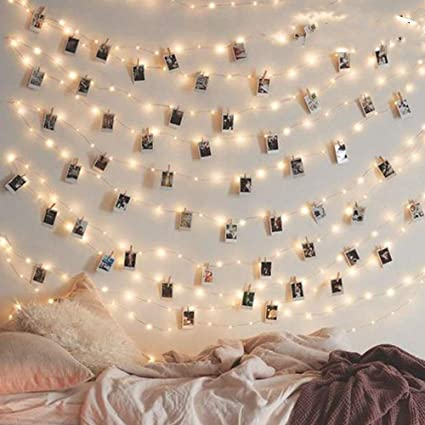 10M 100 LED Photo Clip String Lights Battery Operated Fairy Lights...