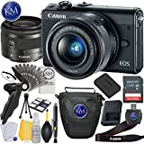 Canon EOS M100 Mirrorless Digital Camera with 15-45mm Lens (Black) + Essential Photo Bundle