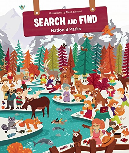 Search And Find National Parks Activity Book, Kids Activity And Camping Coloring Books, Camp Games Kids And Adults Love