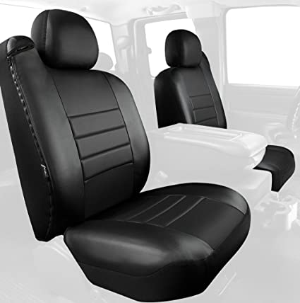 Leatherette Fia SL67-30 BLK//BLK Custom Fit Front Seat Cover Split Seat 40//20//40 Solid Black
