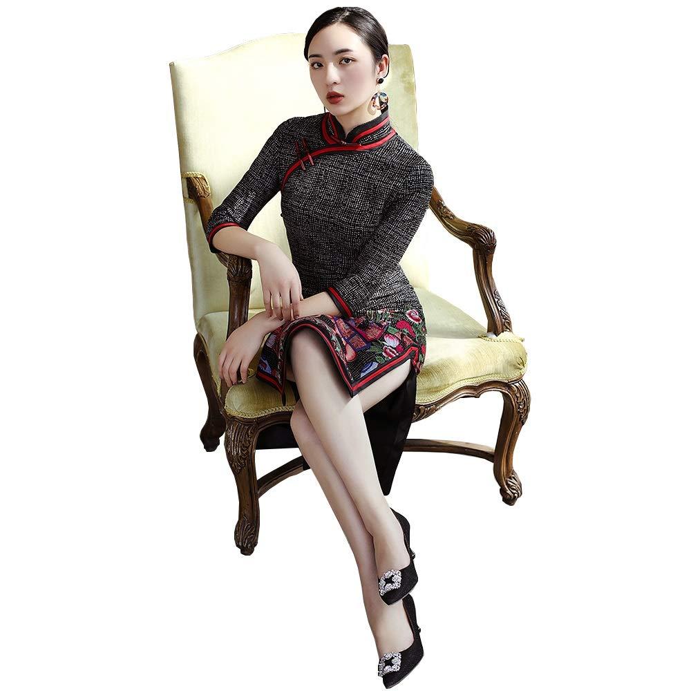 Photo Couleur XL YONGMEI Cheongsam Robe 026 de la première Saison de la Saison des Fleurs