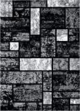 Persian-Rugs T1007 Abstract Modern Area Rug Carpet, 7'10 X 10'2, Gray Black White Review