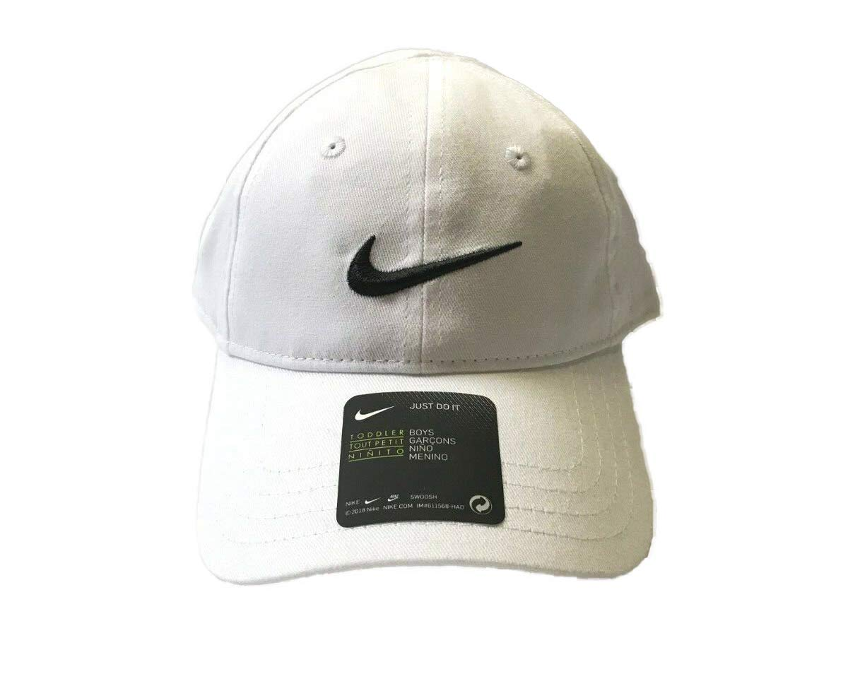 74284f6b16a Galleon - NIKE Toddler Just Do It Sports Hat Adjustable Sun Cap (White W   Signature Black Swoosh)
