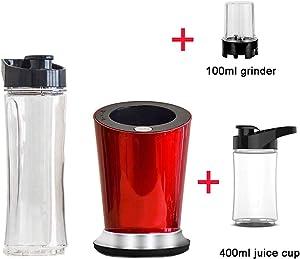 300W Portable Personal Mini Food Blender Mixer Milkshake Juicer 600ml Sports Bottle Options 100ml Grinder and 400ml Cup,Full set 400 n 100ml,EU Plug