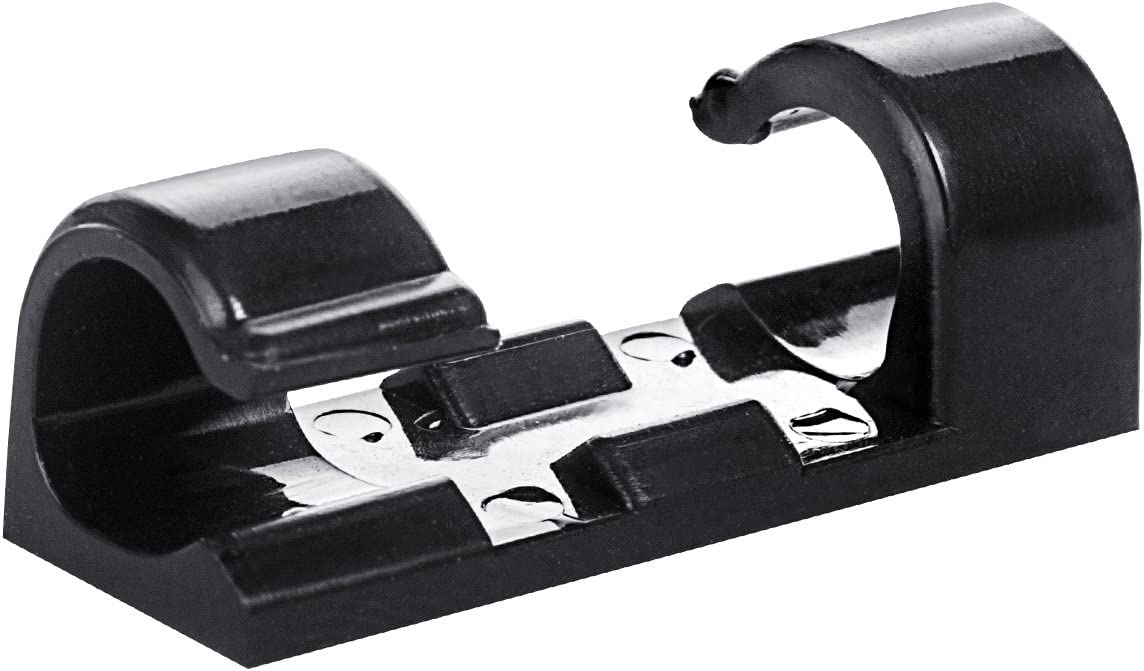 Self-Adhesive Cable Clips Organizer Drop Wire Holder Cord Management, Pack of 20, Black