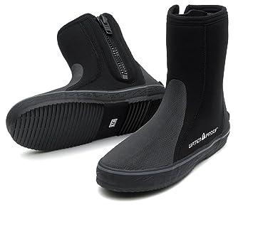 Water Proof Unisex-Adult B2 6.5mm Hi Top Boots ML Black
