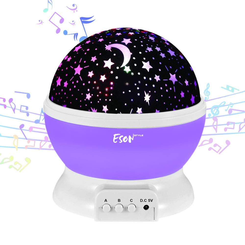 [Update]Esonstyle Musical Night Light,360 Rotating Star Lamp Baby Musical Lamp with Rechargeable Battery,12 Songs to Relax for Sleep Kids Babies Birthday Children Day Christmas Gift by esonstyle (Image #1)