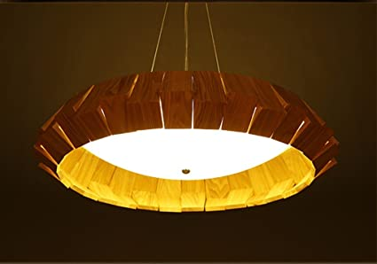Lampada da soffitto in legno massello camera da letto bagno