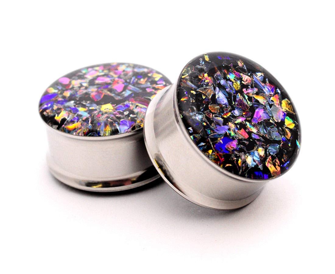 nugroho_mys Embedded Dichroic Glass Plugs gauges (7/8'' - 22mm) by nugroho_mys