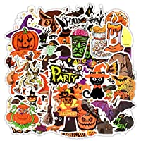 Water Bottle Happy Halloween Stickers Laptop Stickers Pack 50 Pcs Halloween Decals for Water Bottle Laptops Ipad Cars Luggages