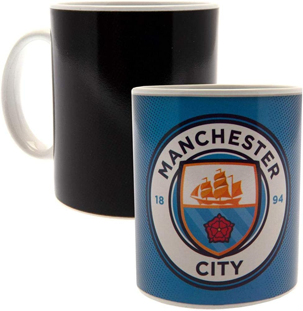 Manchester City FC Heat Changing Gradient Mug (One Size) (Blue)