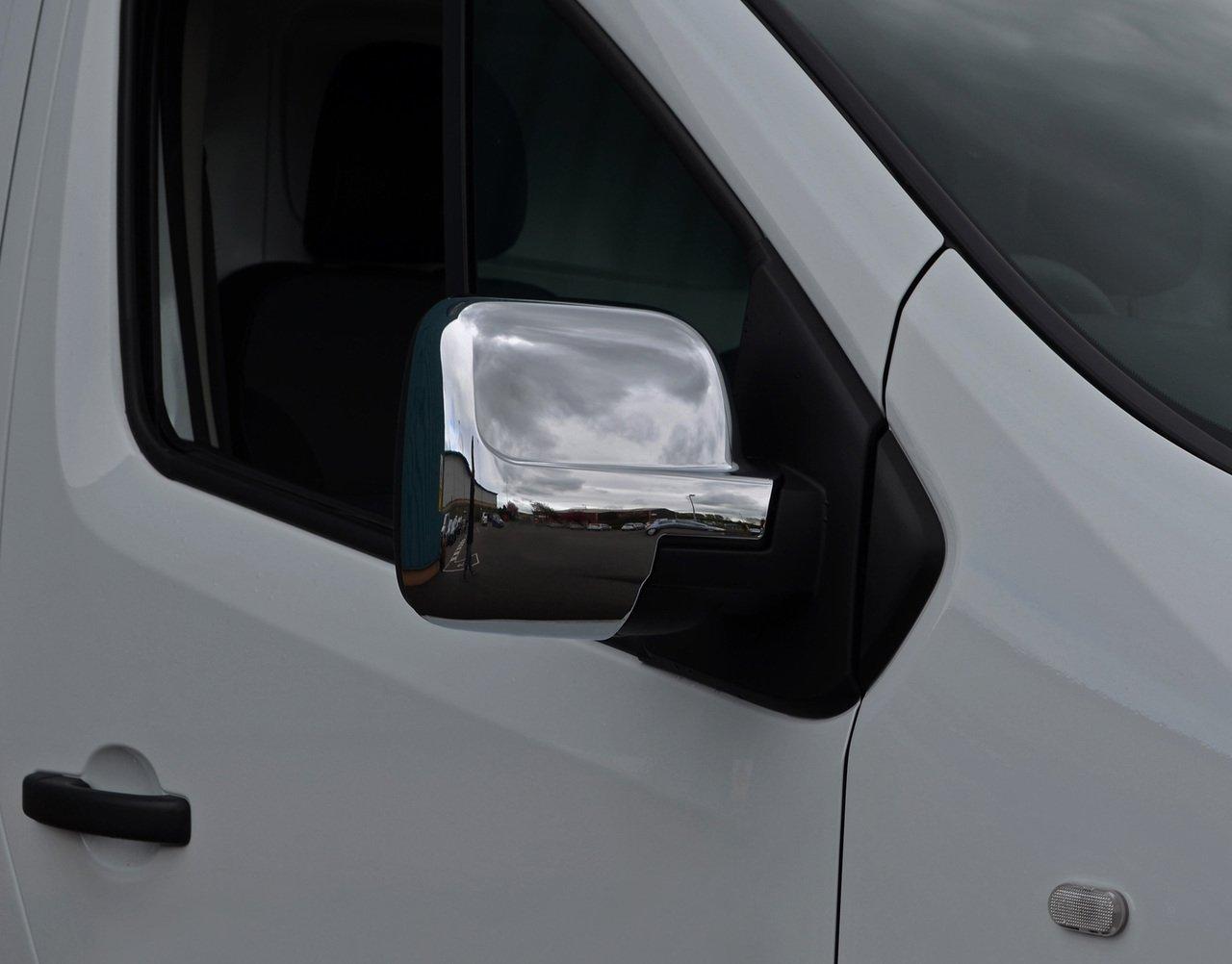 Juego de cubiertas para espejo retrovisor cromado para Trafic 2014+