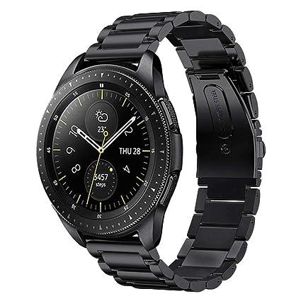 MroTech Bracelet 20mm Acier Bande de Montre de Remplacement pour Samsung Galaxy Watch 42mm/ Gear