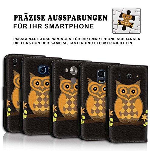 Wallet Book Style Flip Handy Tasche Case Schutz Hülle Schale Motiv Etui für Apple iPhone 5 / 5S - Design Flip MV210