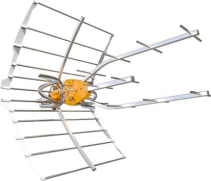 Antena TDT Ellipse LTE 5G (C21-48) 38dB + Alimentación ...