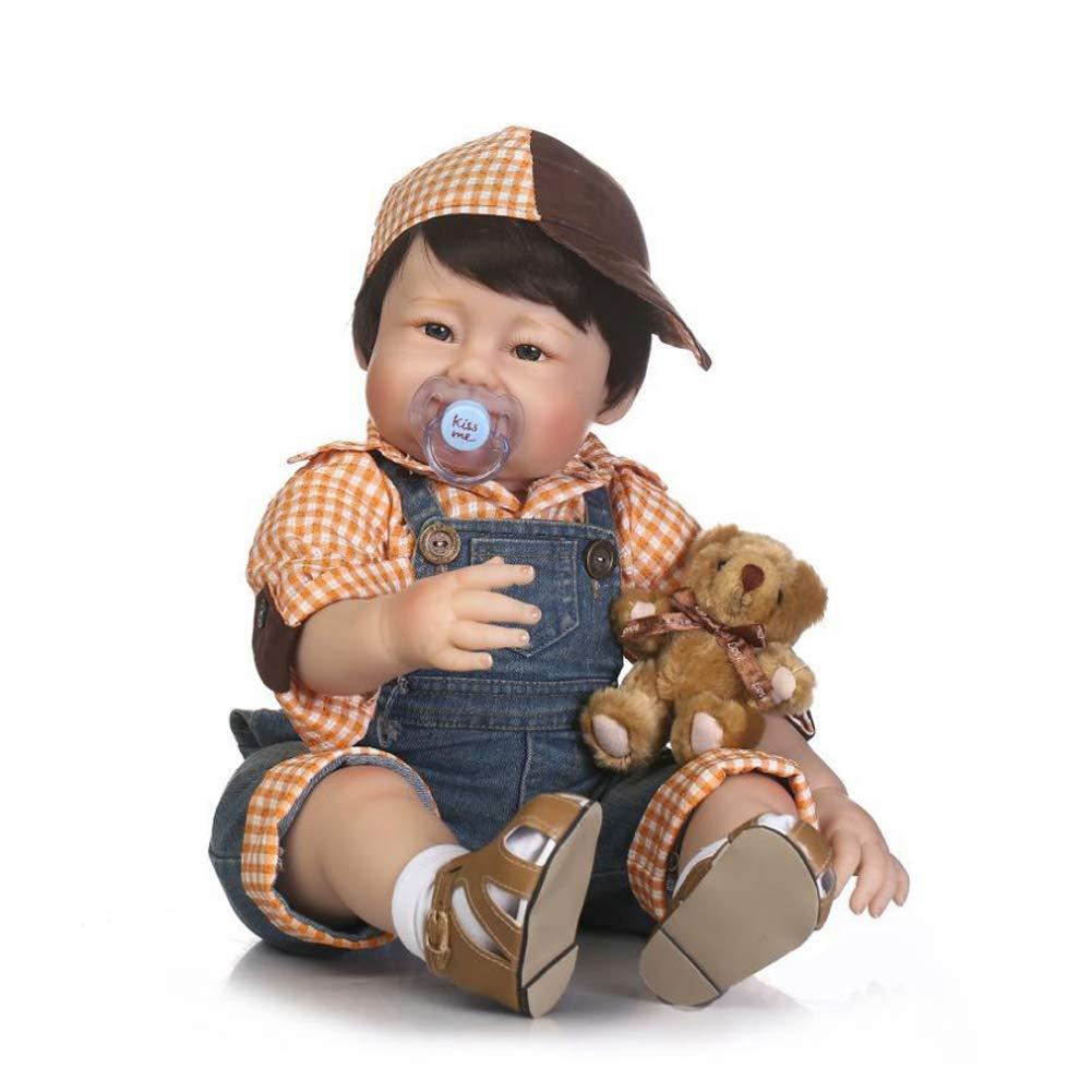 FHSGG Bambole Realistiche del Bambino Rinato 56Cm Giocattolo Neonato del Neonato del Bambino del Vinile Morbido del Ragazzo Sveglio del Ragazzo