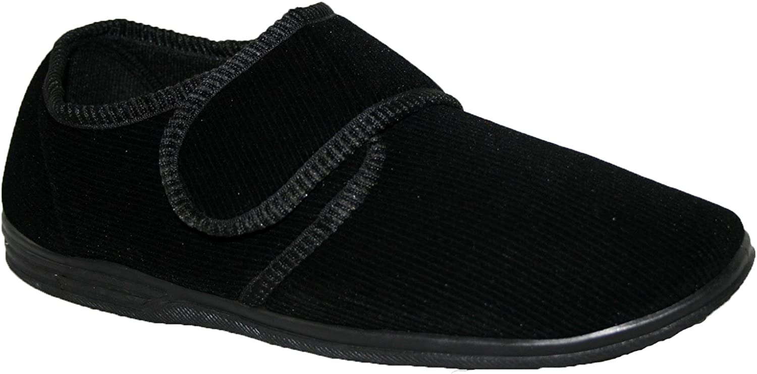 Diabético ortopédico para Hombre Easy Close Wide Fitting Toque Cerca Bar Correa Zapatos Zapatillas