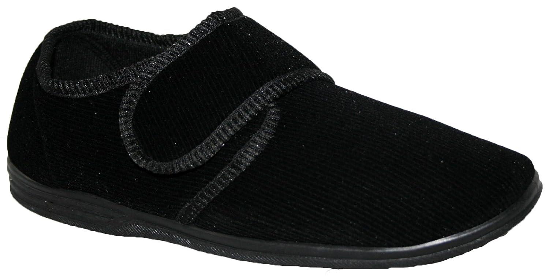 Diabético ortopédico para Hombre Easy Close Wide Fitting Toque Cerca Bar Correa Zapatos Zapatillas