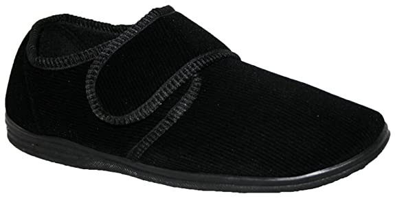 Diabetiker Orthopädische Herren Easy Close Wide Fitting Toque Cerca bar Gurt Schuhe Sneaker