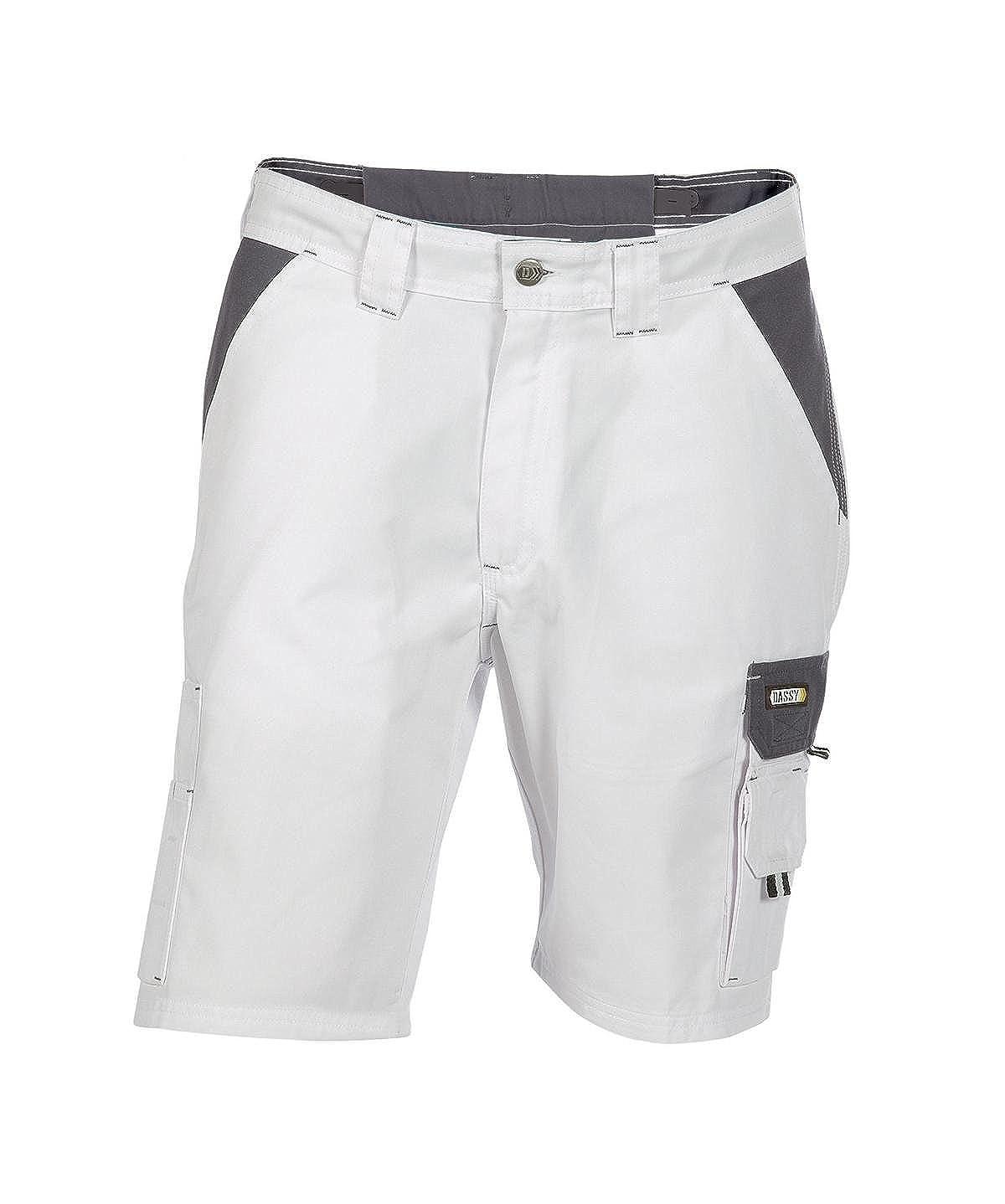 Dassy Roma wei/ß//grau Arbeitshose Bundhose Shorts Bermuda
