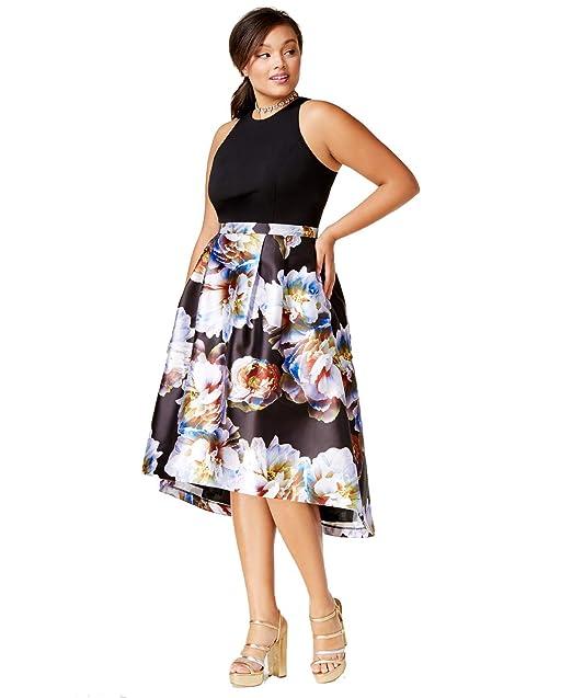 d50e9619b2 City Chic Womens Plus Hi-Lo Floral Print Formal Dress at Amazon Women's  Clothing store: