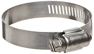 Precision Brand - 35350 B32HS All Stainless Worm Gear Hose Clamp, 1-9/16
