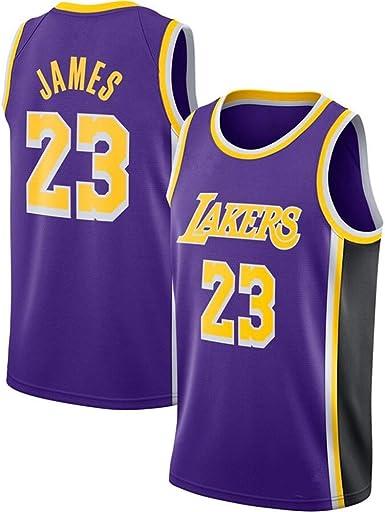 Lalagofe Lebron James, Los Ángeles Lakers #23 Basket Jersey Maglia Canotta, Viola, Un Nuovo Tessuto Ricamato, Stile di Abbigliamento Sportivo (S): Amazon.es: Ropa y accesorios