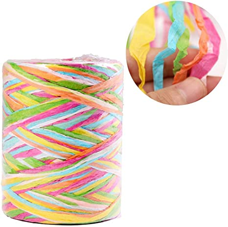 Wine Bottle Decoration|3//16 Inch Width Raffia Paper Yarn for Wedding Birthday Star Quality Paper Twine 85 Yards Matte Paper Ribbon for Gift Wrap Craft and Party