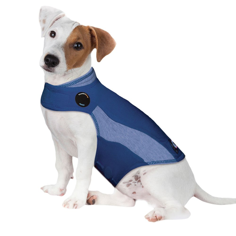 ThunderShirt Polo Dog Anxiety Jacket Blue Large