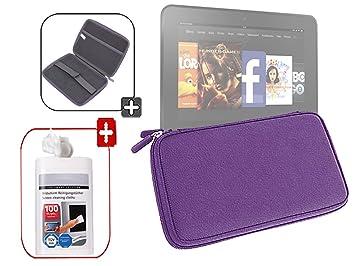DURAGADGET-Funda rígida impermeable de goma EVA, toallitas limpiadoras para pantallas tablet Kindle Fire