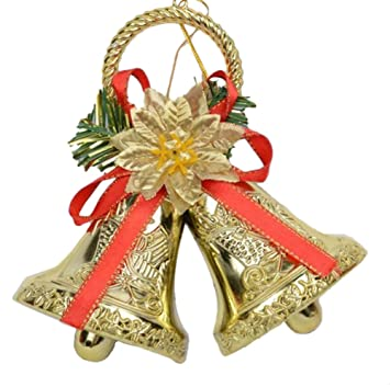 scrox 1pcs christmas jingle bells christmas tree hanging decorations christmas jingle bell for doorwall