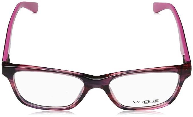 VOGUE Monture lunettes de vue VO 2787 2061 Noir/Rouge cerise à rayures 51MM 6EKnart5zU