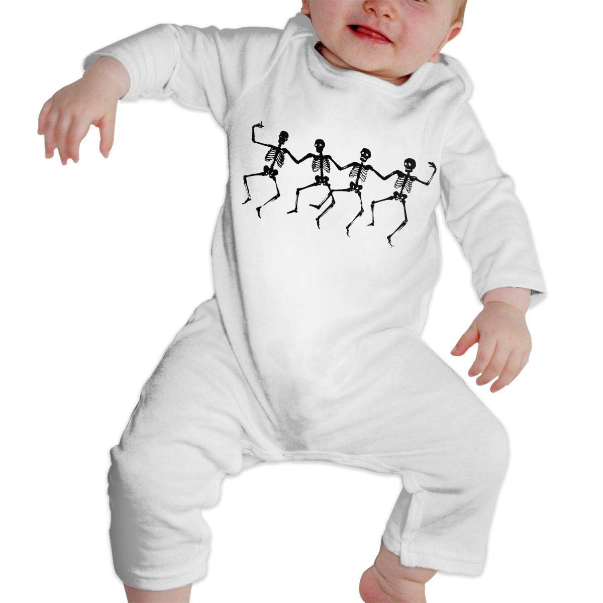 Fasenix Funny Skeletons Dance Newborn Baby Boy Girl Romper Jumpsuit Long Sleeve Bodysuit Overalls Outfits Clothes