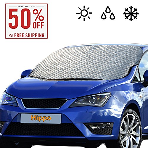 Large Windshield (Windshield Snow Cover, Extra Large & Thick Ice Cover Windproof with Door Flaps Protect Windshield and Wiper from Ice ,Snow, Frost,Sun in All Weather, Fit for Most Vehicle 62.99