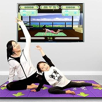Amazon.com: Dance mat Double Yoga Fitness Somatosensory Game ...