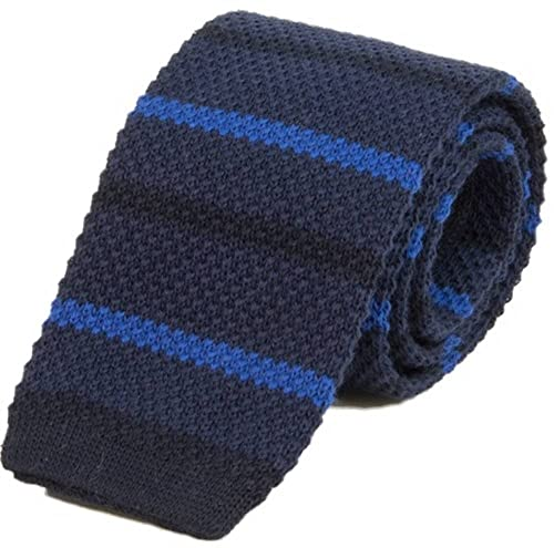 Gradiente de barra rayada de algodón corbata hecha punto de 40 ...