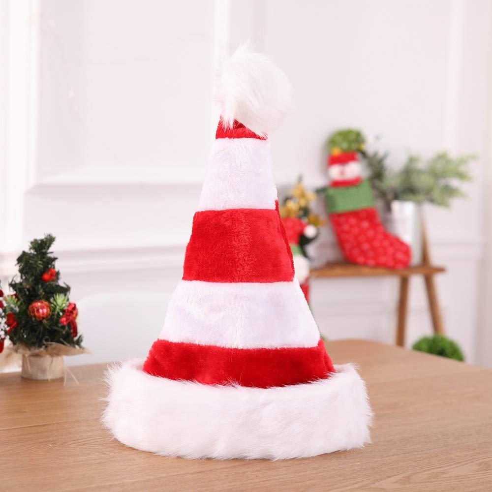 TPulling Weihnachtsschmuck Geschenk Hochwertige Doppel Plü sch Weihnachtsmü tze