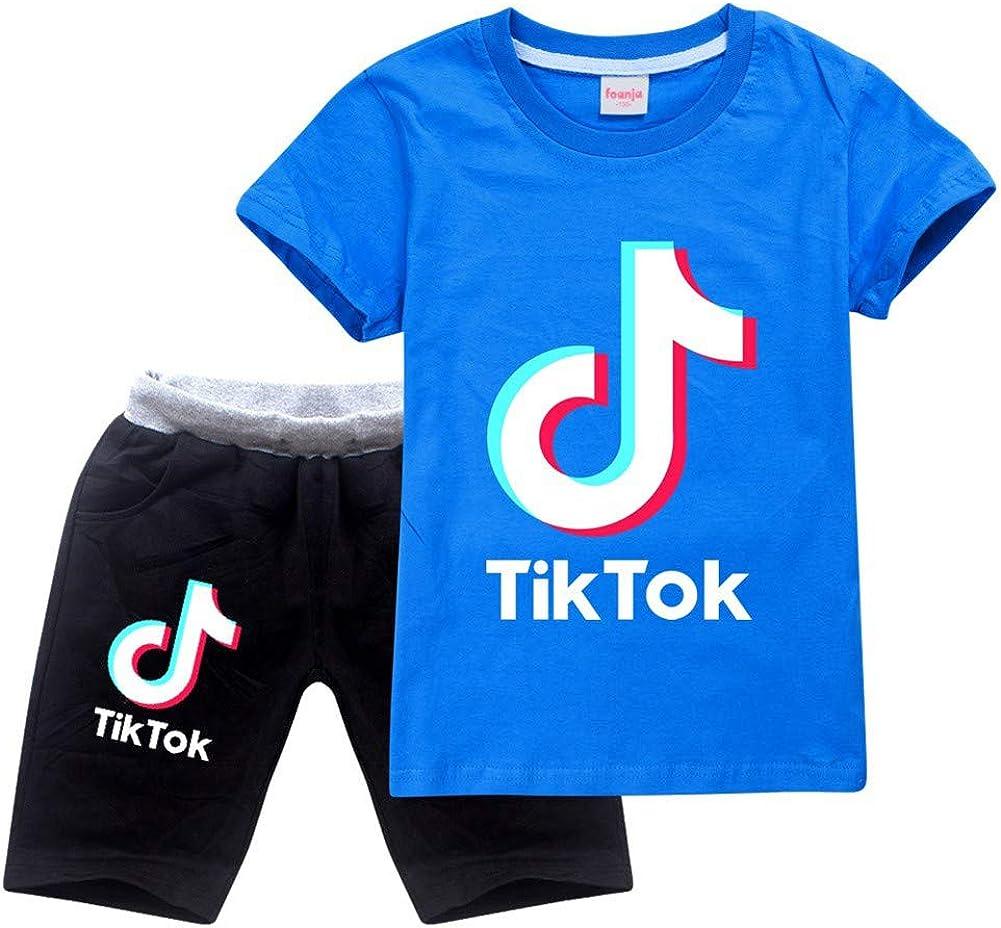 Boy TIK Tok - Conjunto de camiseta y pantalones unisex: Amazon.es: Ropa y accesorios