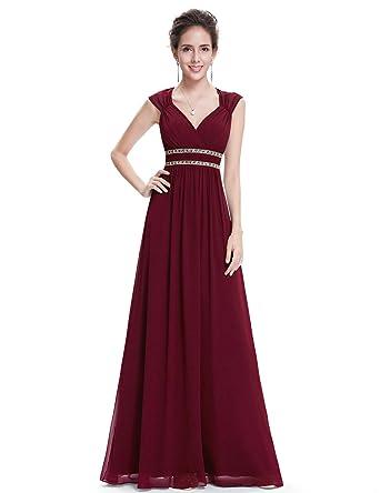extrem einzigartig neuer Stil von 2019 Wählen Sie für neueste Ever Pretty Damen Abendkleid A-Linie V Ausschnitt Brautjungfer rückenfrei  lang 08697