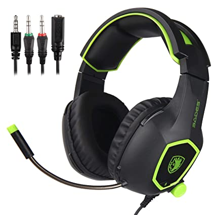 SADES SA818 - Auriculares para juegos con micrófono para PS4 / PS4 PRO / Xbox One / Xbox One S / Laptop / Mac / Tablet / iPhone / iPad / iPod, Color ...