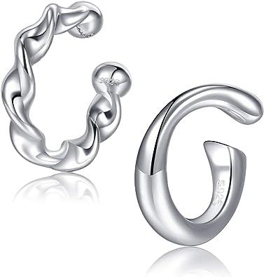 Ear Cuff Silver Ear Band Non-pierced Cartilage Wrap Earring Fake Conch No Piercing Cuff Earring Simple Ear Cuff Earring Rope EROPESS