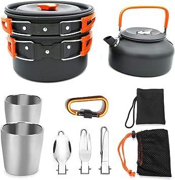 100% brand newSet de menaje para acampar, menaje de cocina ...