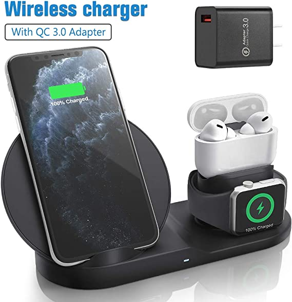 Amazon Com Wireless Charger For Airpods Pro With Adapter