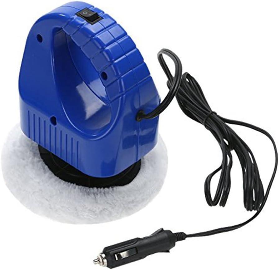 5 Inch Automotive Waxing Machine DC 12V Electric Car Polishing Buffer Tool 36W Car High Speed Quiet Sanding Waxer with 2 Pads