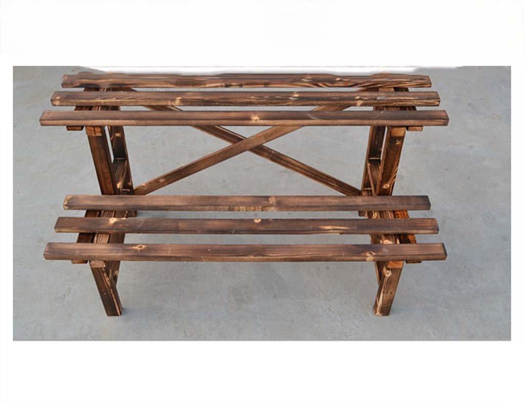 AIDELAI Ancient carbonized flower frame antiseptic wood flower racks flower / pastoral wood Patio Garden Pergolas ( Style : B )