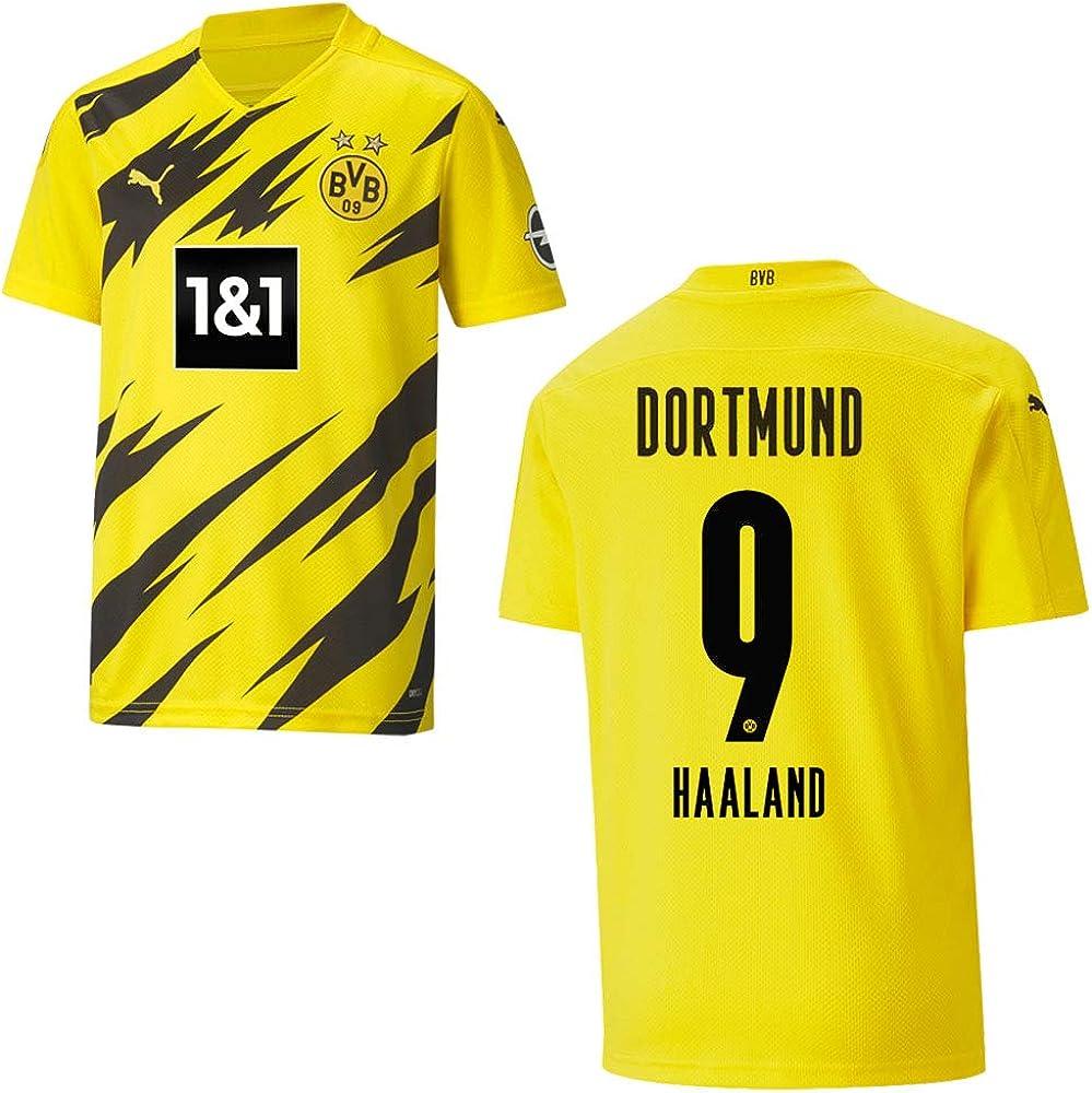 Puma BVB - Camiseta de fútbol para niños (equipación local 2021, tamaño: 164) 10 000 EUR): 9 Haaland: Amazon.es: Deportes y aire libre