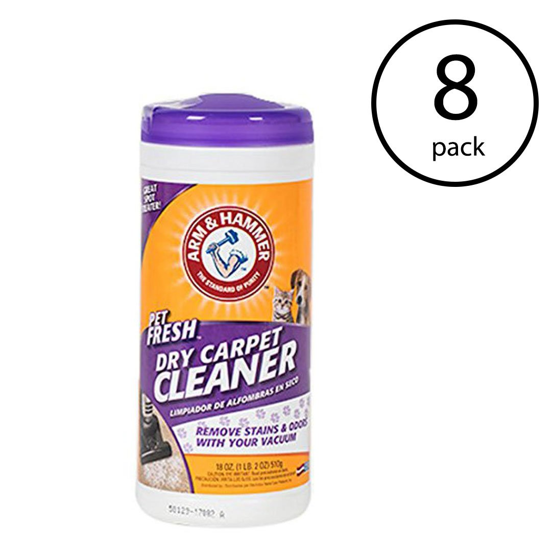 Arm & Hammer Pet Fresh Formula Dry Carpet Stain Remover and Cleaner (8 Pack)