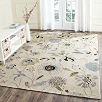 Safavieh Four Seasons Collection FRS482C Hand-Hooked Ivory and Blue Indoor/ Outdoor Area Rug (8 x 10)